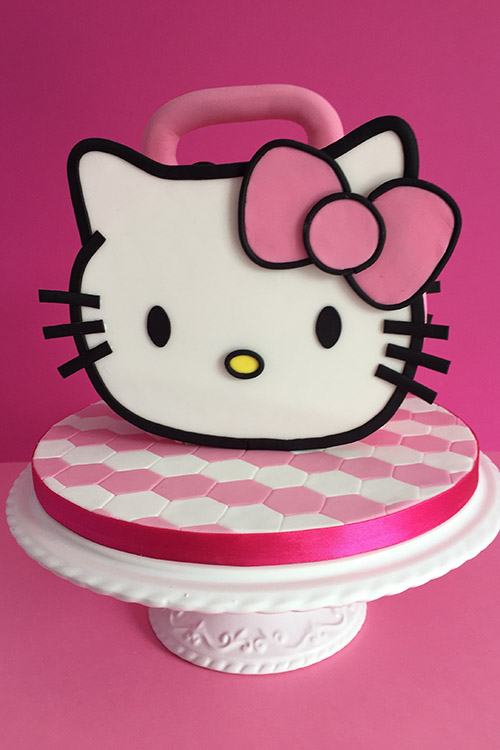 Hello Kitty birthday cake designed by JD Cake Design