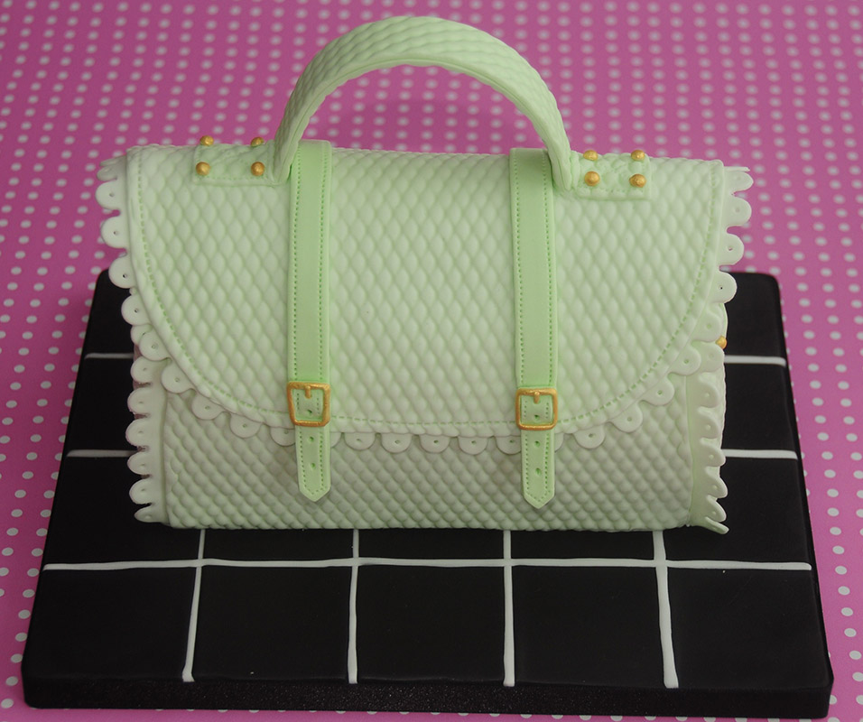 Birthday cake handbag designed by JD Cake Design