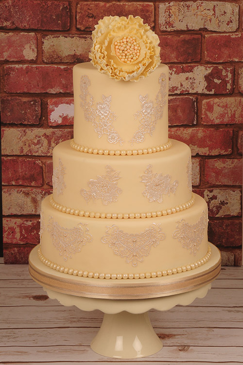 Wedding cake designed by Janet Dobie from JD Cake Designs
