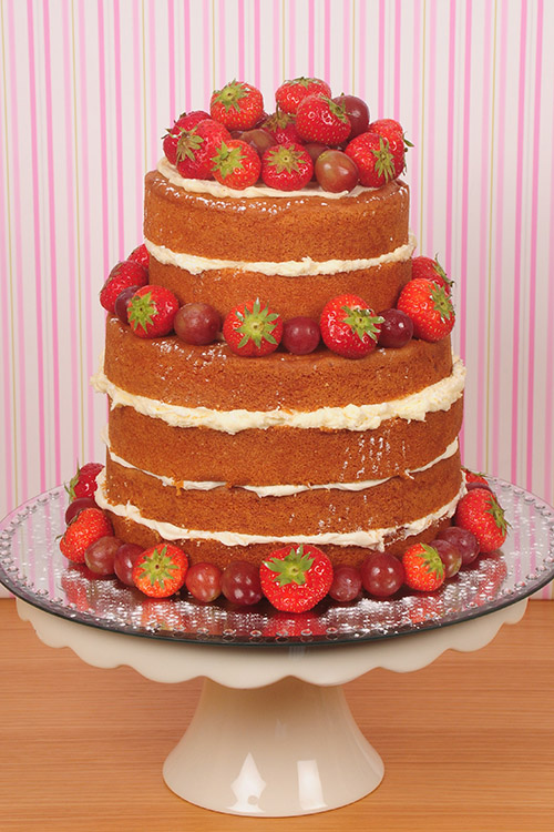 chocolate sponge with strawberry Wedding cake designed by Janet Dobie from JD Cake Designs